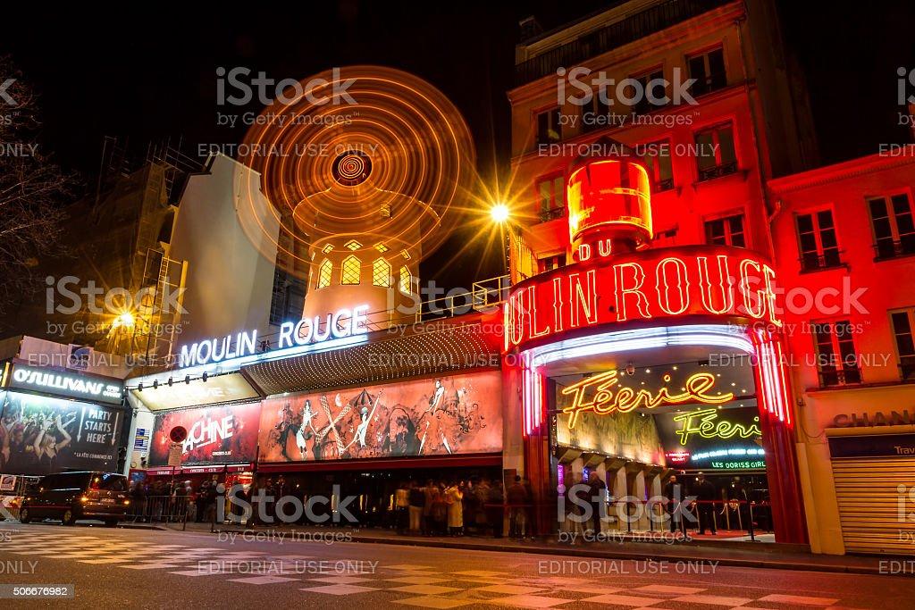 Paris Moulin Rouge stock photo