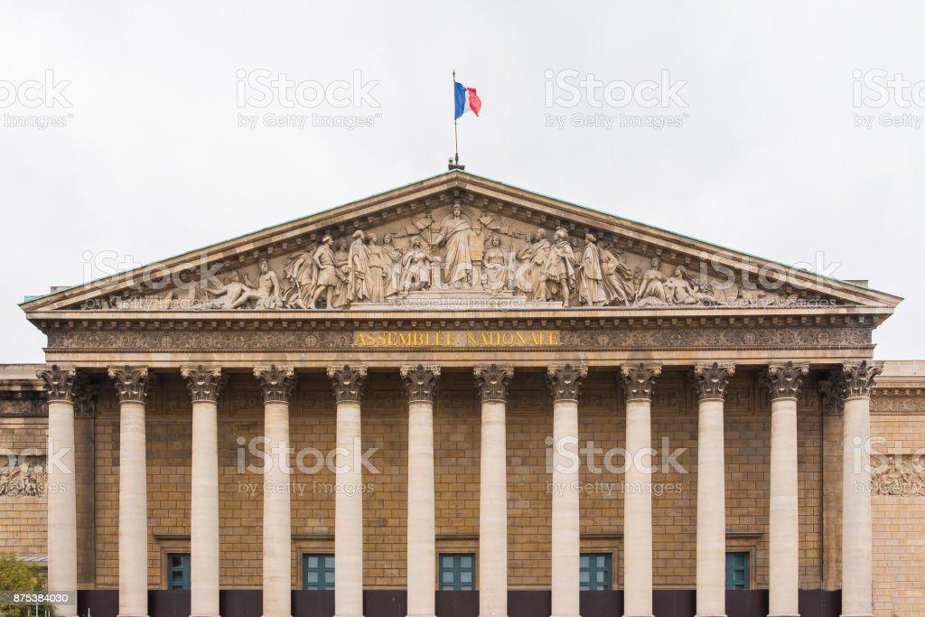 Paris, National Assembly stock photo