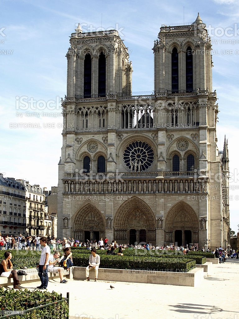 Paris - Notre Dame in France royalty-free stock photo