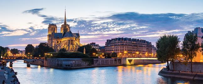 Paris Notre Dame Panorama Stock Photo - Download Image Now