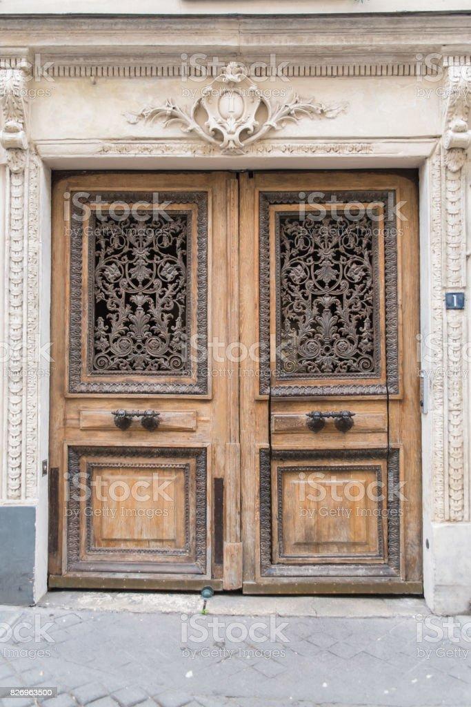 Paris, old door stock photo