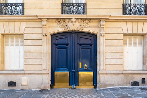 Paris, old wooden door