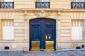 istock Paris, old wooden door 1045245354
