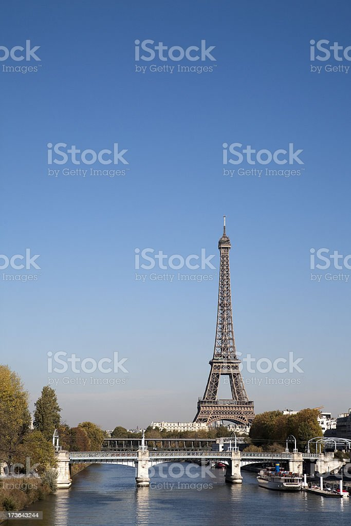 Paris on a clear day royalty-free stock photo