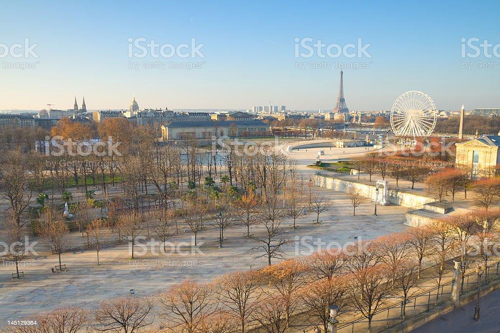 Paris on a Sunday Morning stock photo
