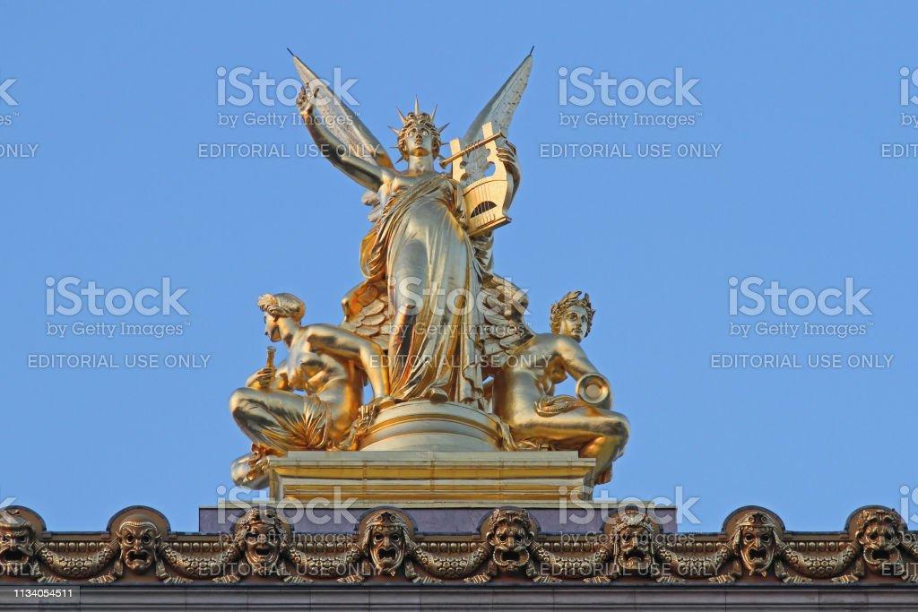 Paris Opera Gold stock photo