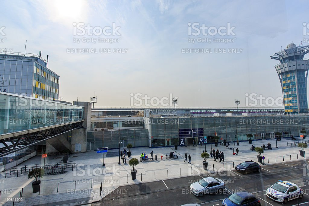 Paris Orly Airport in south of Paris stock photo