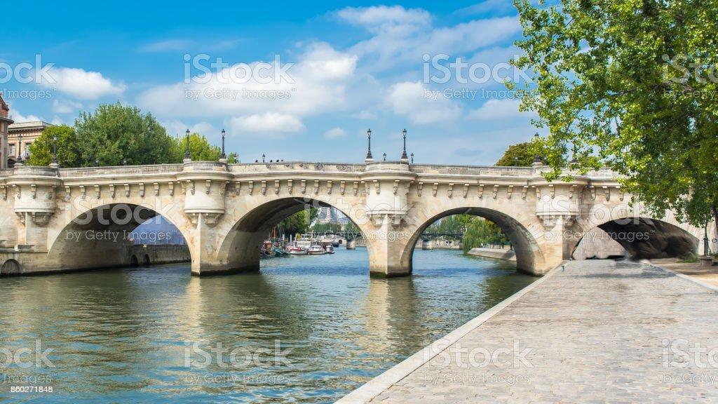 Paris, panorama of the Pont-Neuf stock photo