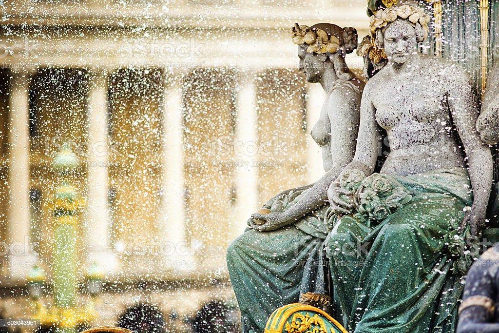 Paris Place de la Concorde Fountain detail stock photo
