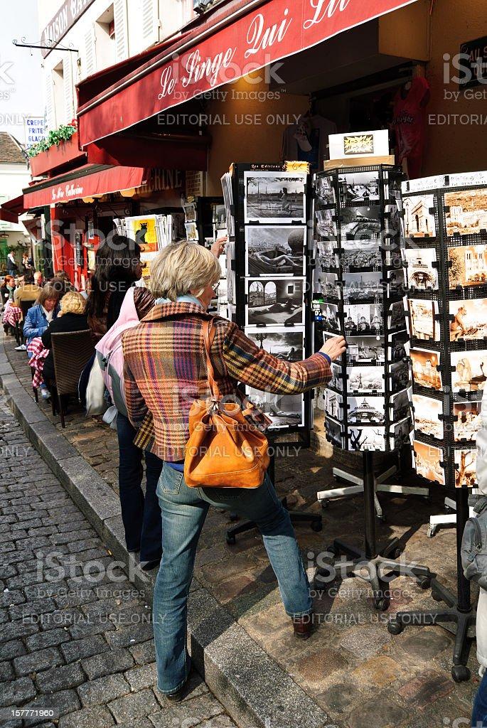Paris: Place du Tertre in Montmartre royalty-free stock photo
