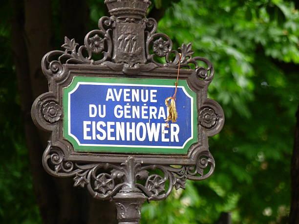 Paris placa de Rue, avenue du General EISENHOWER - foto de stock