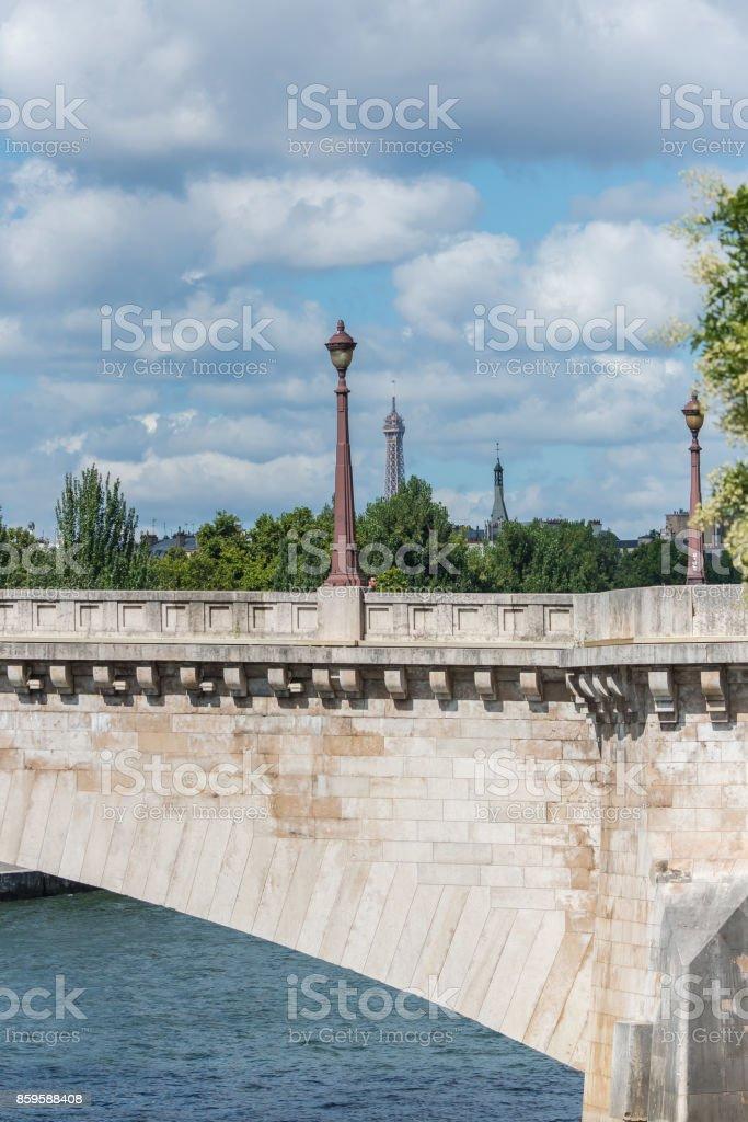 Paris, pont de la Tournelle stock photo