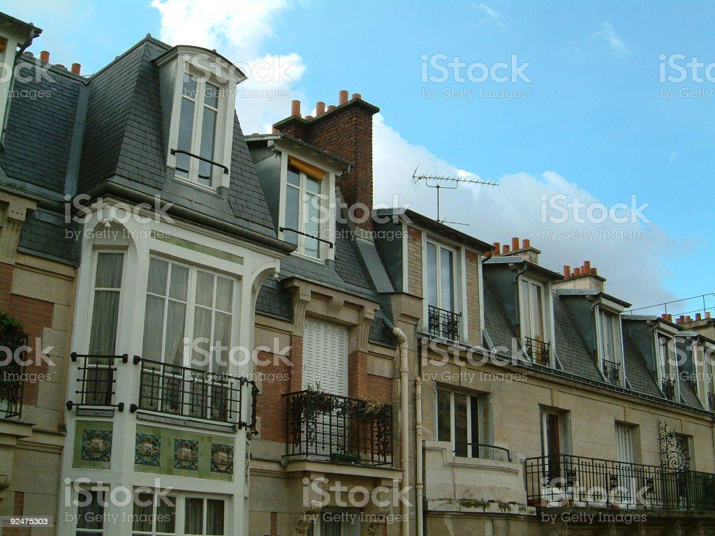 paris' roof 02 royalty-free stock photo