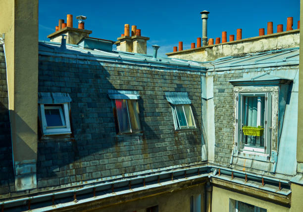 Paris roof tops stock photo