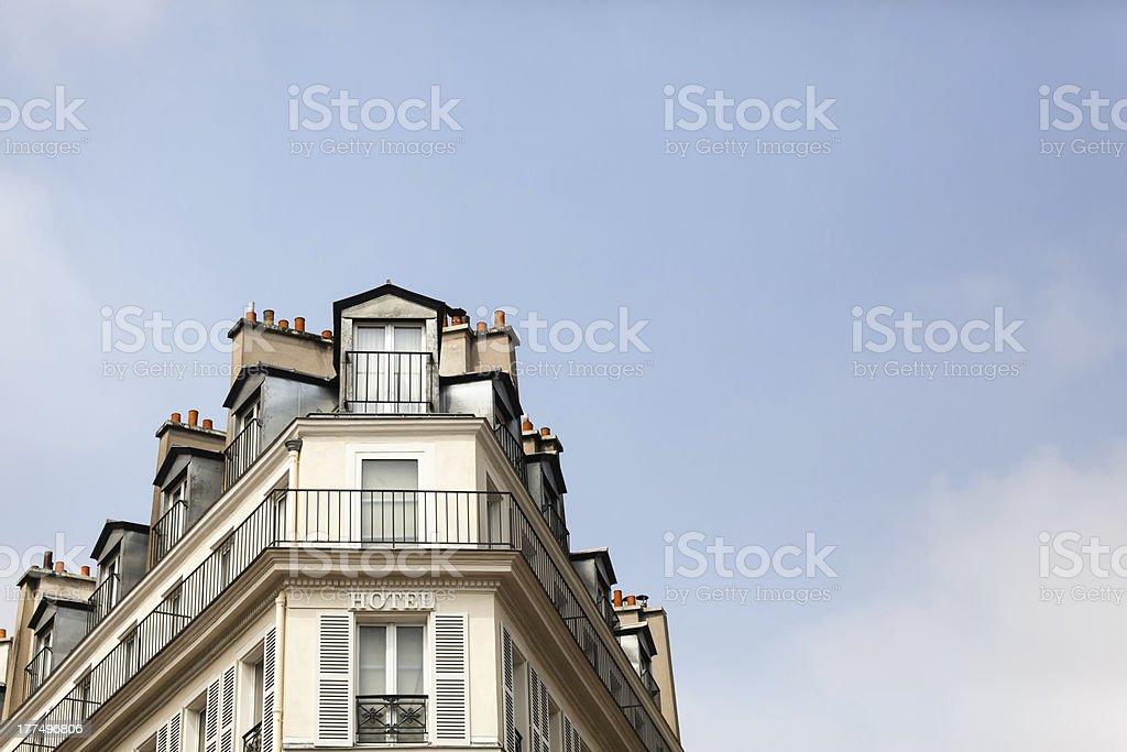 Paris Roofline Against a Blue Sky stock photo