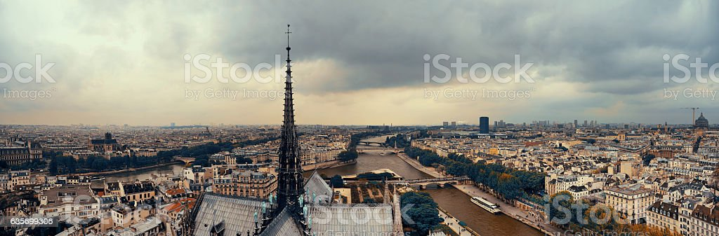 Paris rooftop panorama royalty-free stock photo