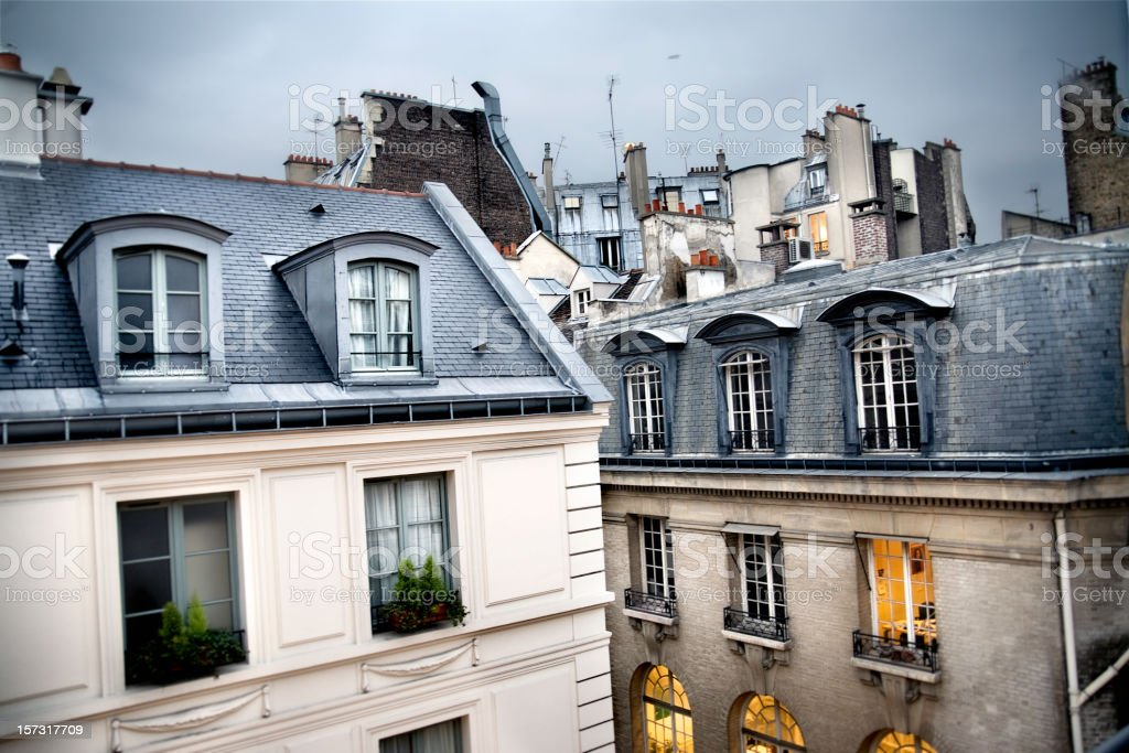 Paris rooftop royalty-free stock photo