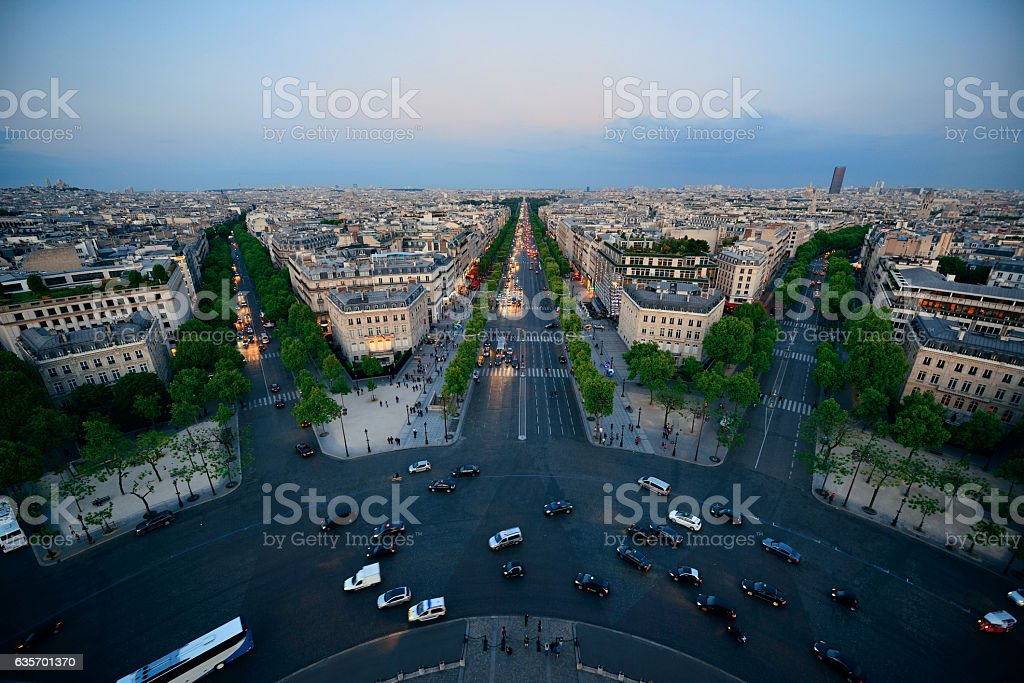 Paris rooftop view royalty-free stock photo