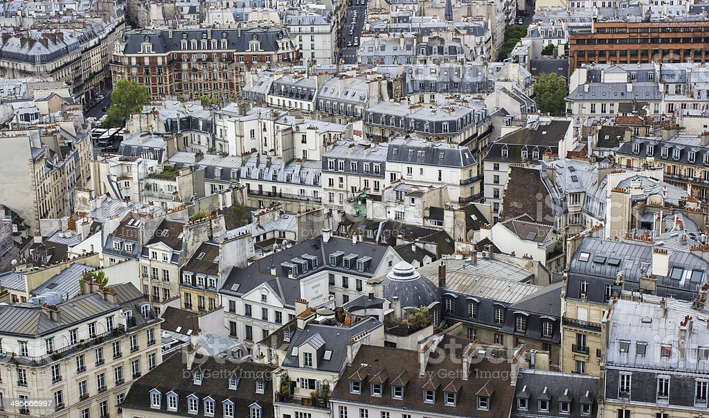Paris rooftops stock photo