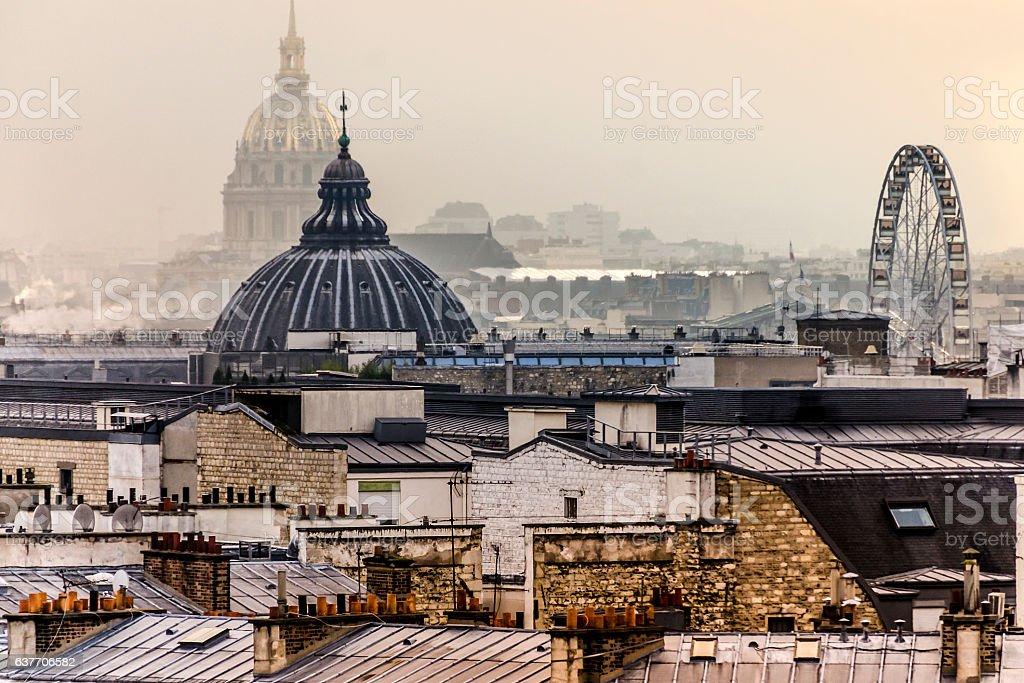 Paris rooftops stock photo