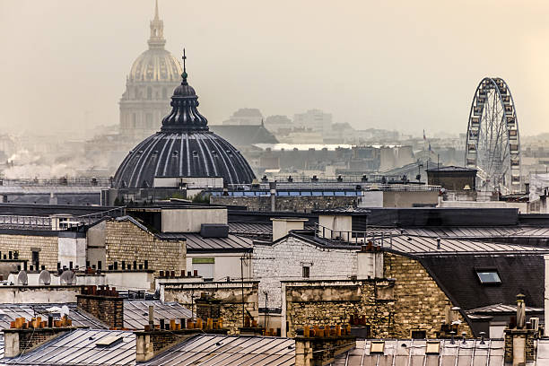 paris rooftops - nzgmw2017 stock pictures, royalty-free photos & images