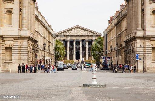 istock Paris Rue Royale et Eglise de la Madeleine 503134849