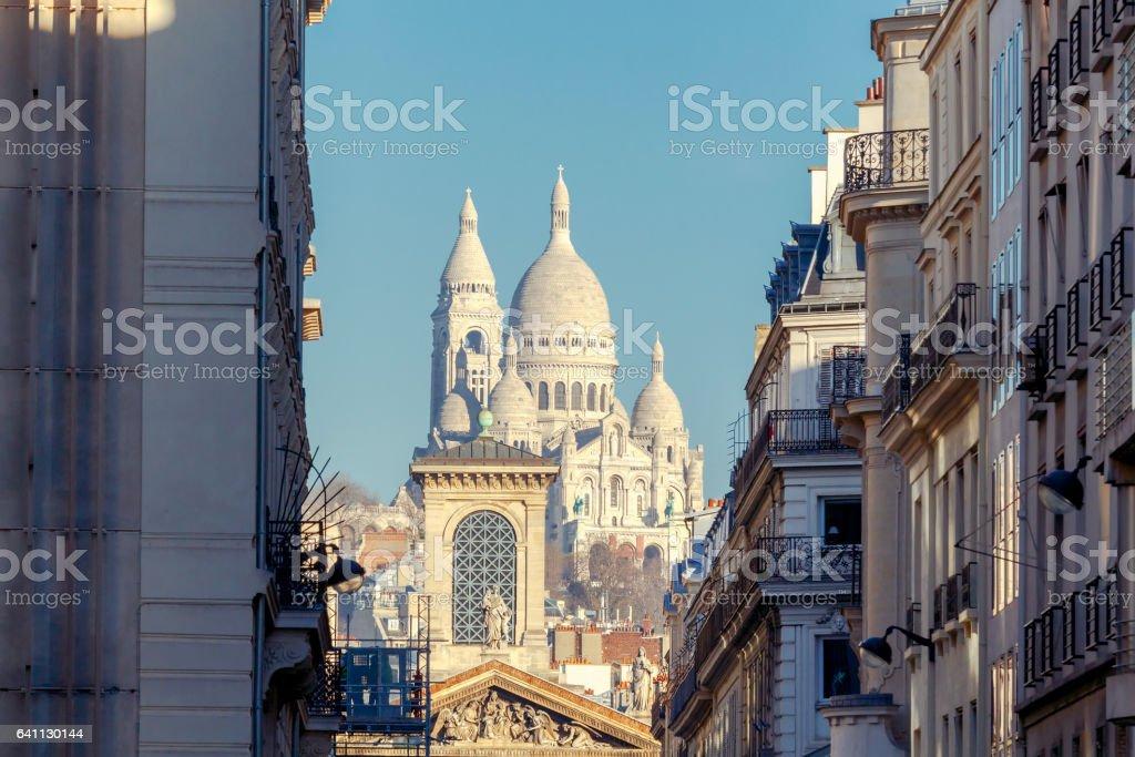 Paris. Sacre Coeur Basilica stock photo