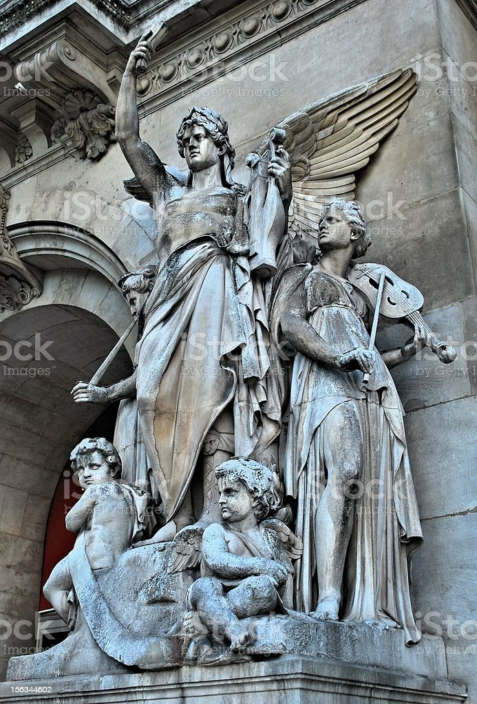 Paris sculpture royalty-free stock photo