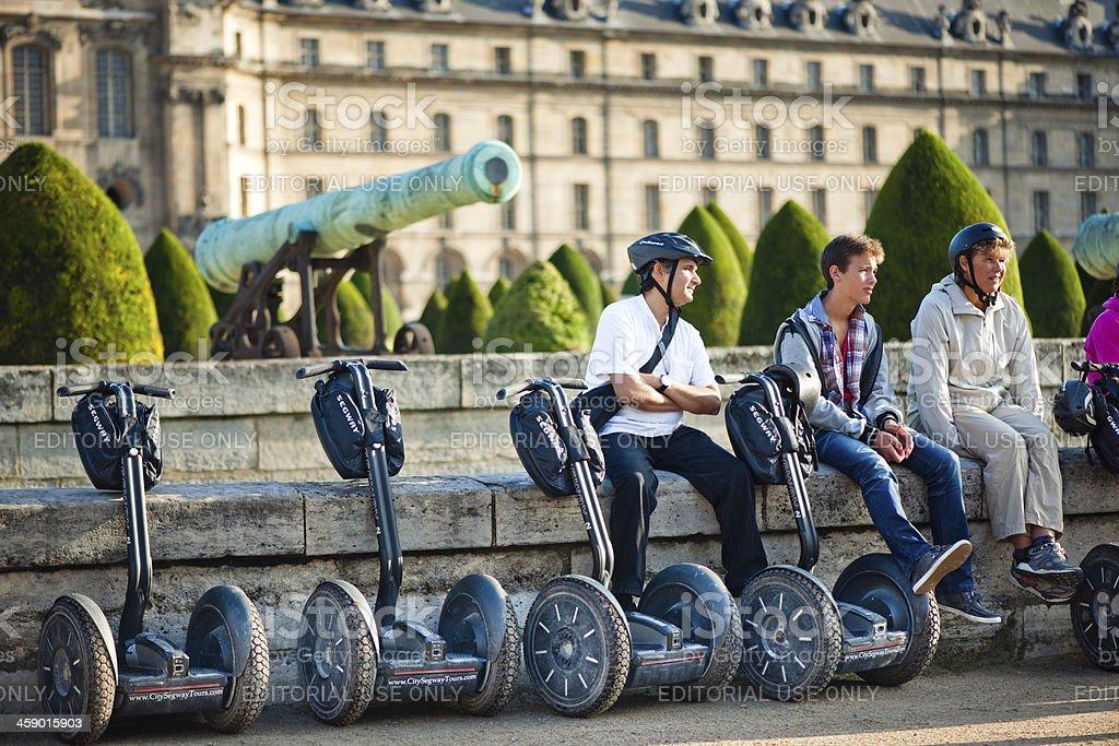 Paris Segway tour stock photo