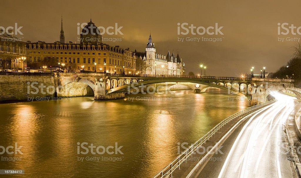 Paris Seine Conciergerie royalty-free stock photo