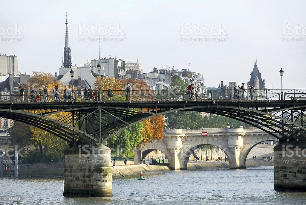 Paris Seine royalty-free stock photo