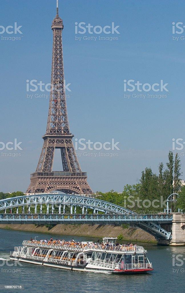 Paris Seine River Cruise royalty-free stock photo