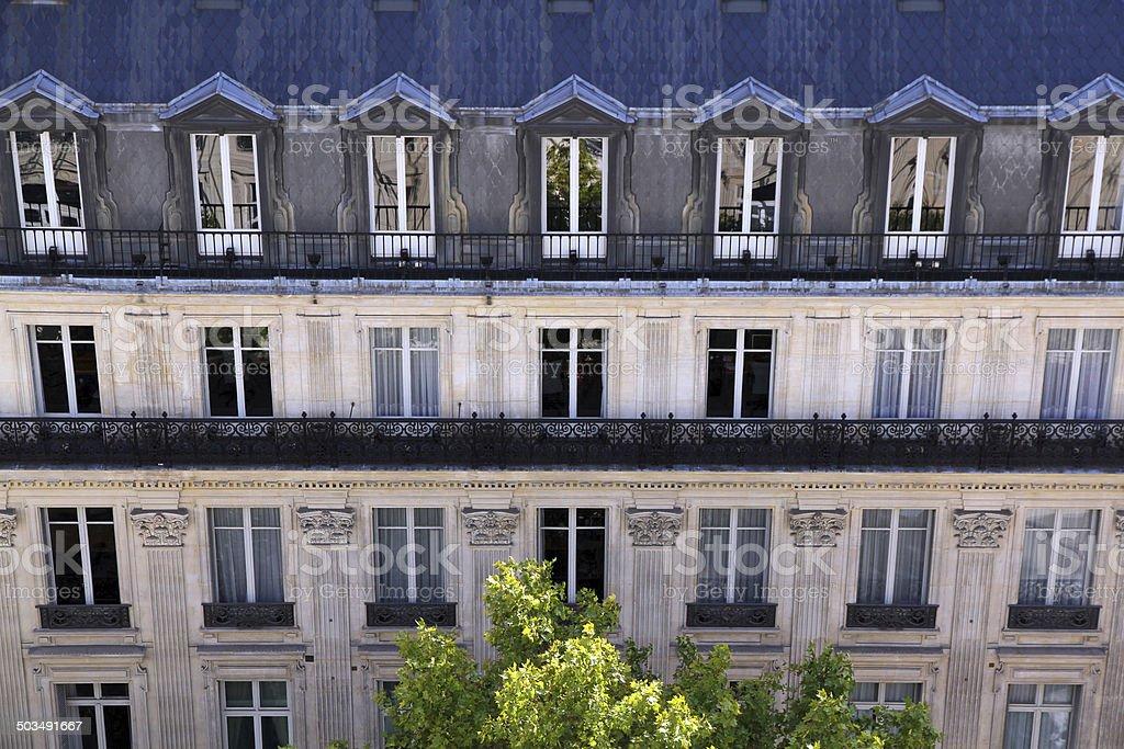 Paris Side Street royalty-free stock photo
