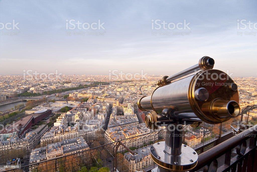 Paris - Sightseeing Telescope stock photo