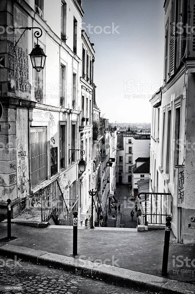 Paysage urbain de Paris de Montmartre - Photo