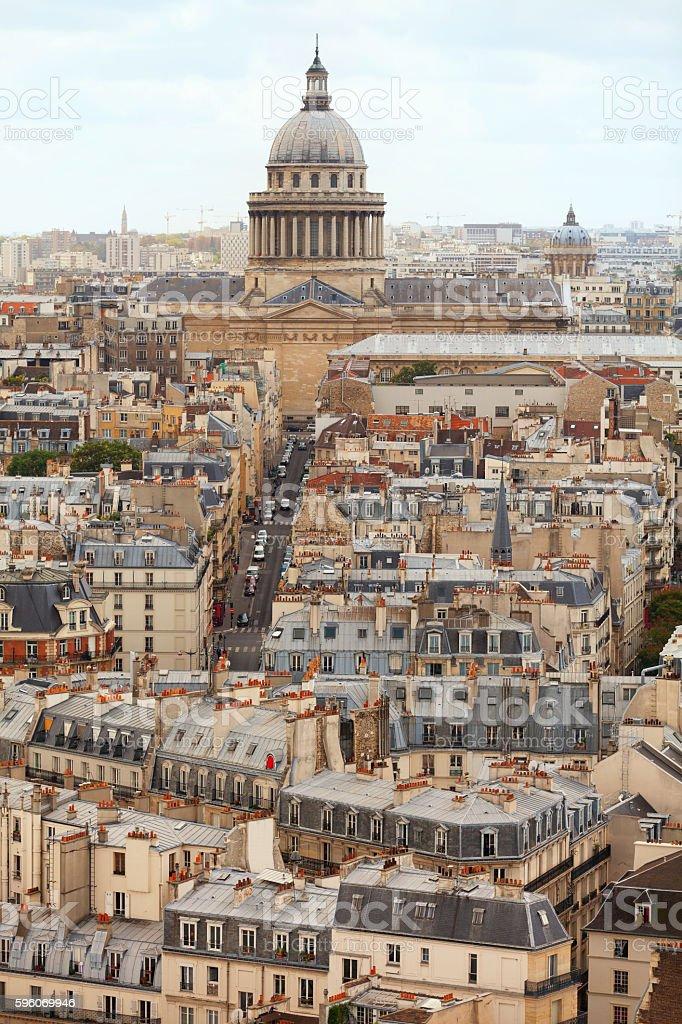 Paris skyline fron Notre Dame royalty-free stock photo