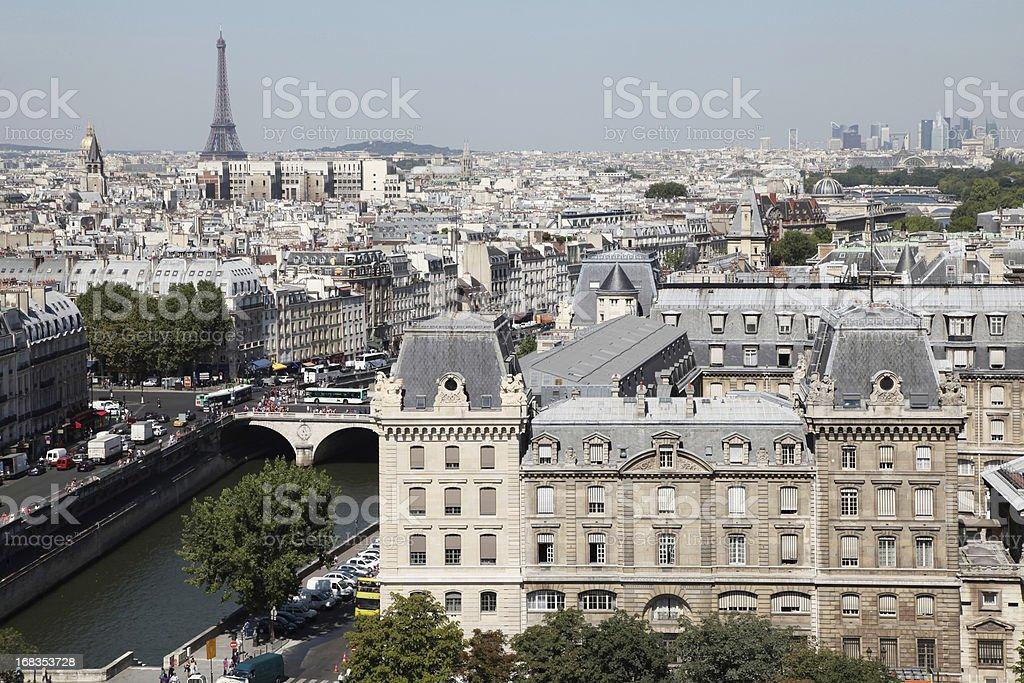 Paris Skyline royalty-free stock photo