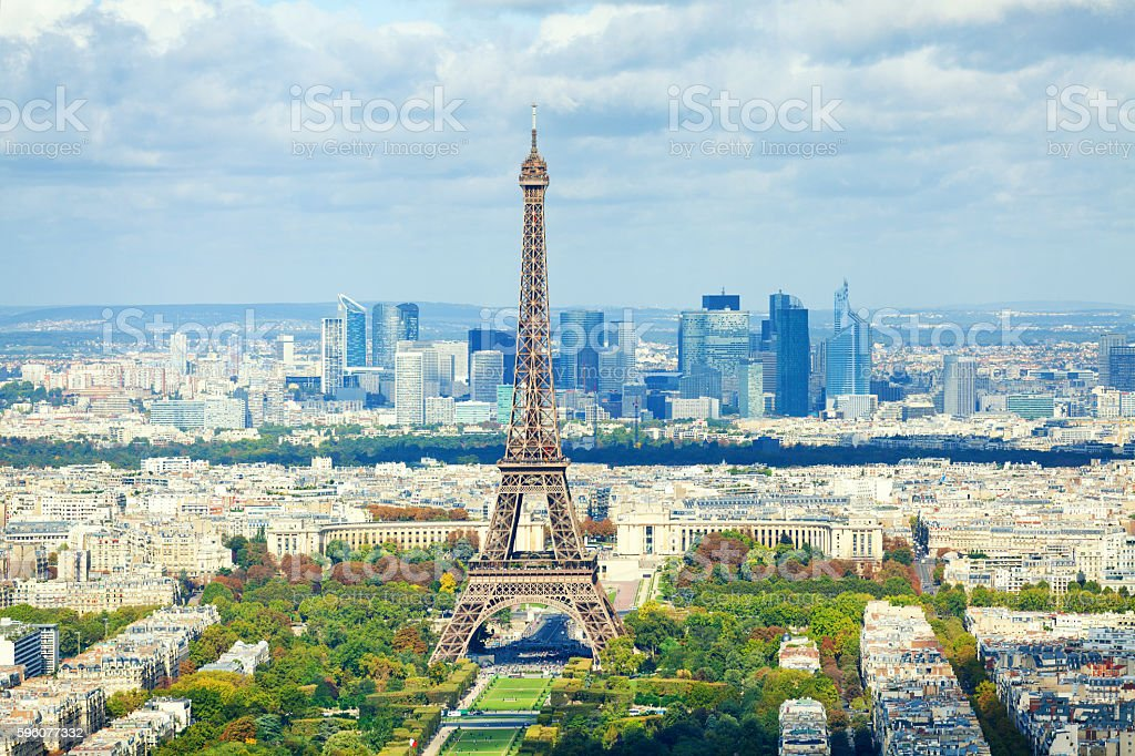 Paris skyline royalty-free stock photo