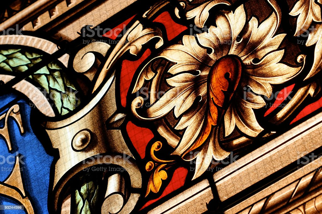 Paris stained glass royalty-free stock photo