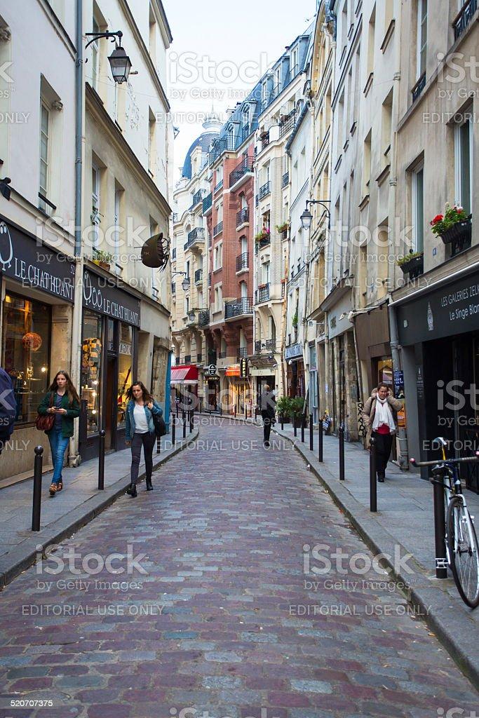 Paris Street Scene stock photo