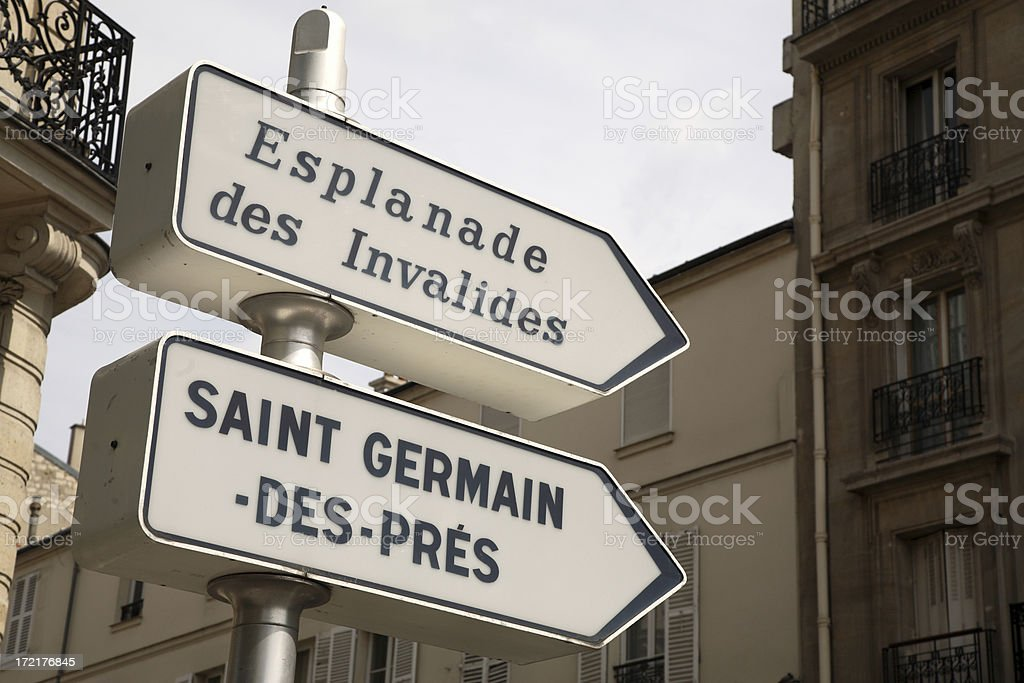 Paris: Street Signs royalty-free stock photo