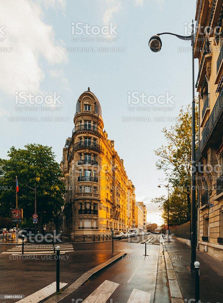 Paris Street View - Rue Edouard-Pailleron photo libre de droits