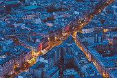 Above view of Paris cityscape