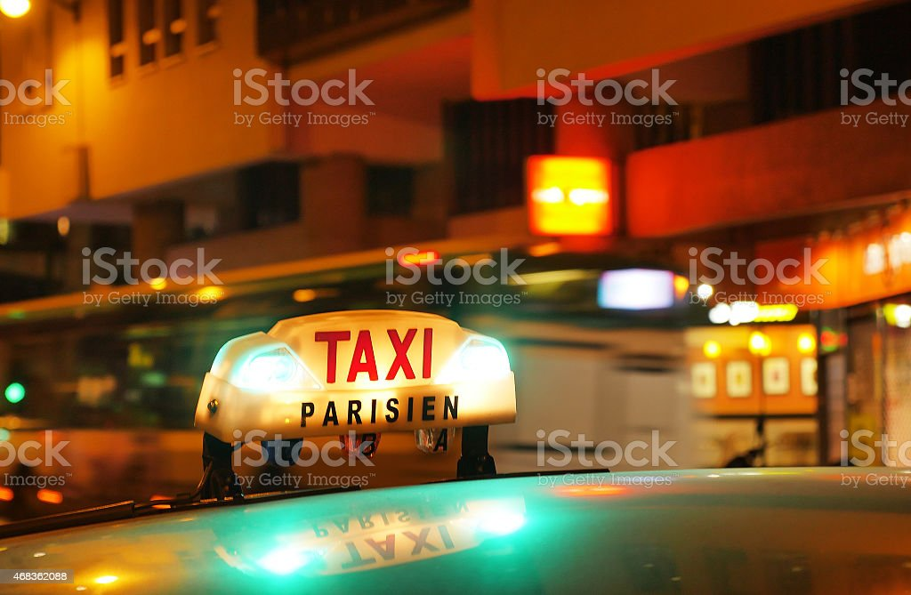 Paris Taxi royalty-free stock photo