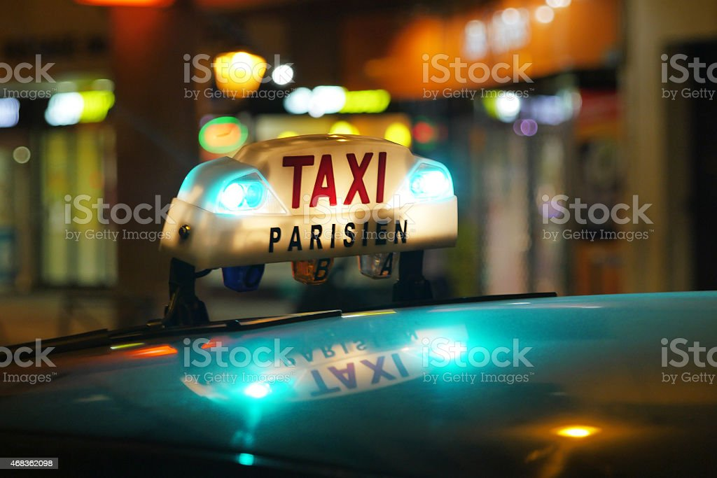 Paris Taxi royalty-free stock photo