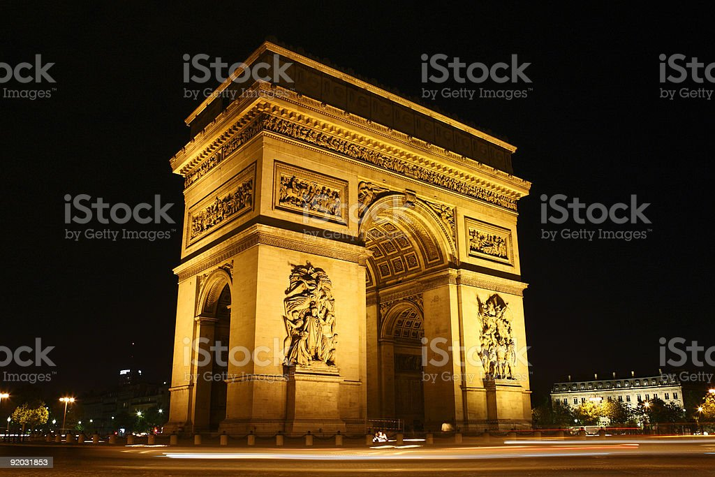Paris - the Arc de Triomphe​​​ foto