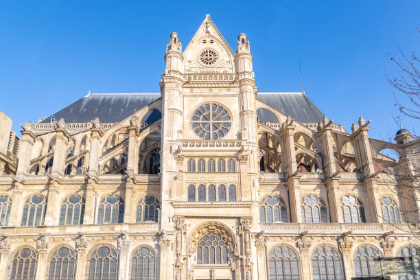 paris, the saint-eustache church - saint eustache church foto e immagini stock