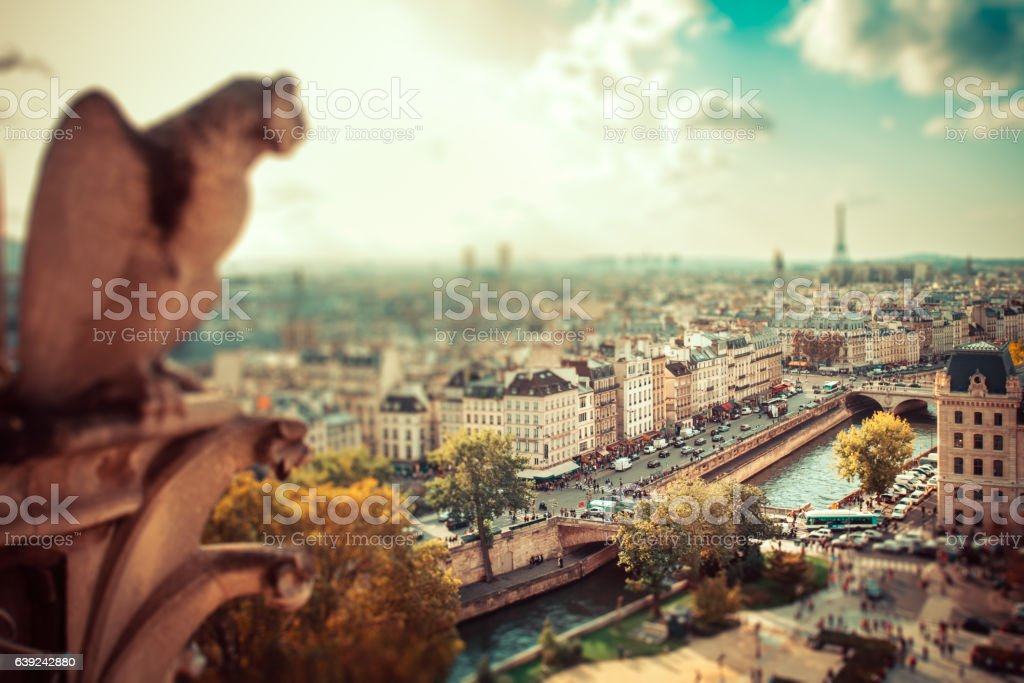 Paris Tilt-shift City View stock photo