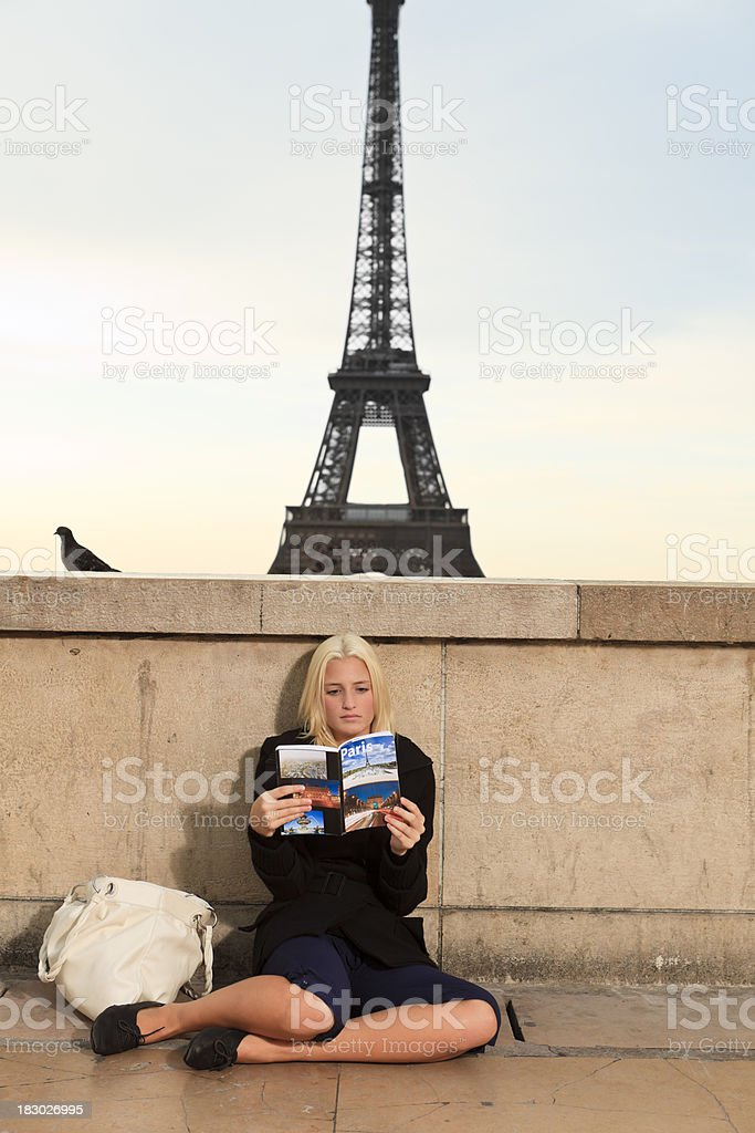 Paris tourist royalty-free stock photo