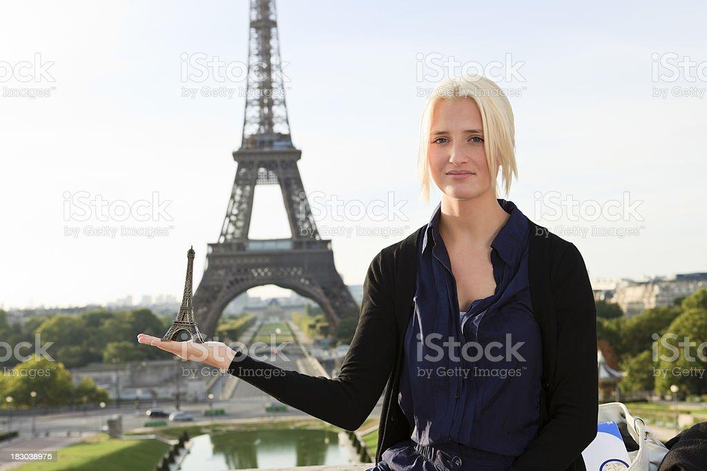 Paris tourist royalty-free stock photo